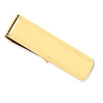 14k Yellow Gold Solid Gepolijst Engravable Money Clip Sieraden Geschenken voor mannen - 10,8 gram