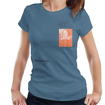 A. P. O. H William Shakespeare skrivning portræt kvinder ' s T-shirt