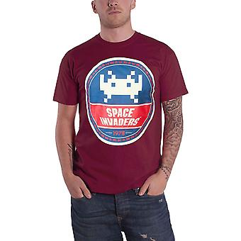 Space Invaders T Shirt Tround Invader new Official retro gamer Mens Red