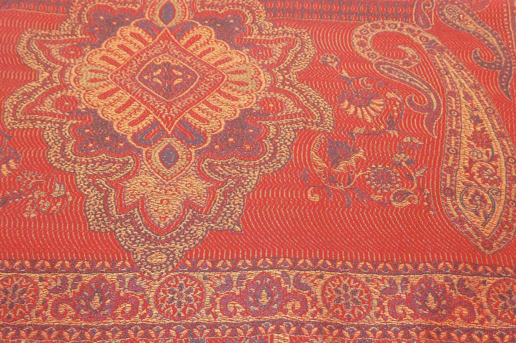 Mens Jamawar Premium Silk Scarf Pattern 8379 by Pashmina & Silk