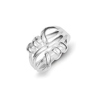 925 sterling zilver gepolijst fancy ring-ring grootte: 7 tot en met 8