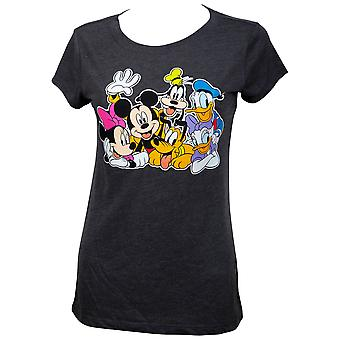 Mickey And Friends Women's Grey T-Shirt