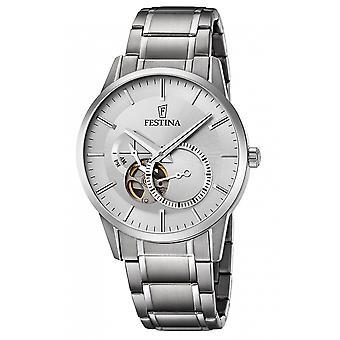 Festina F6845-1 Männer's Silber Ton Automatik Armbanduhr