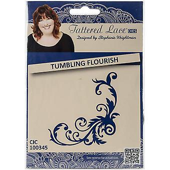 Create and Craft Metal Tattered Lace Die-Tumbling Flourish