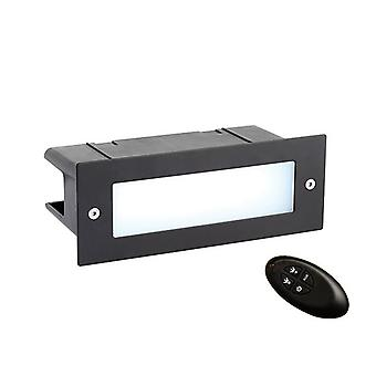 Saxby Lighting Seina Integrated LED RGB 1 Light Outdoor Recessed Light Textured Noir, Ip44 67603 Givré