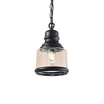 Ideal Lux Hansel 1 lätt pendel ljus svart IDL168586