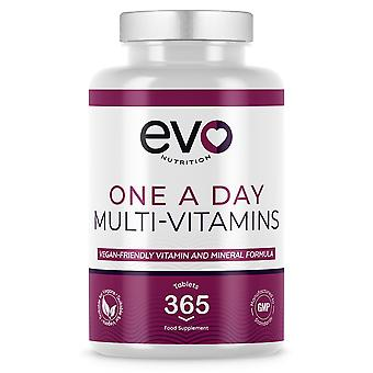 Multi Vitamins (365 Tablets) Multivitamin & Mineral Formula - Evo Nutrition