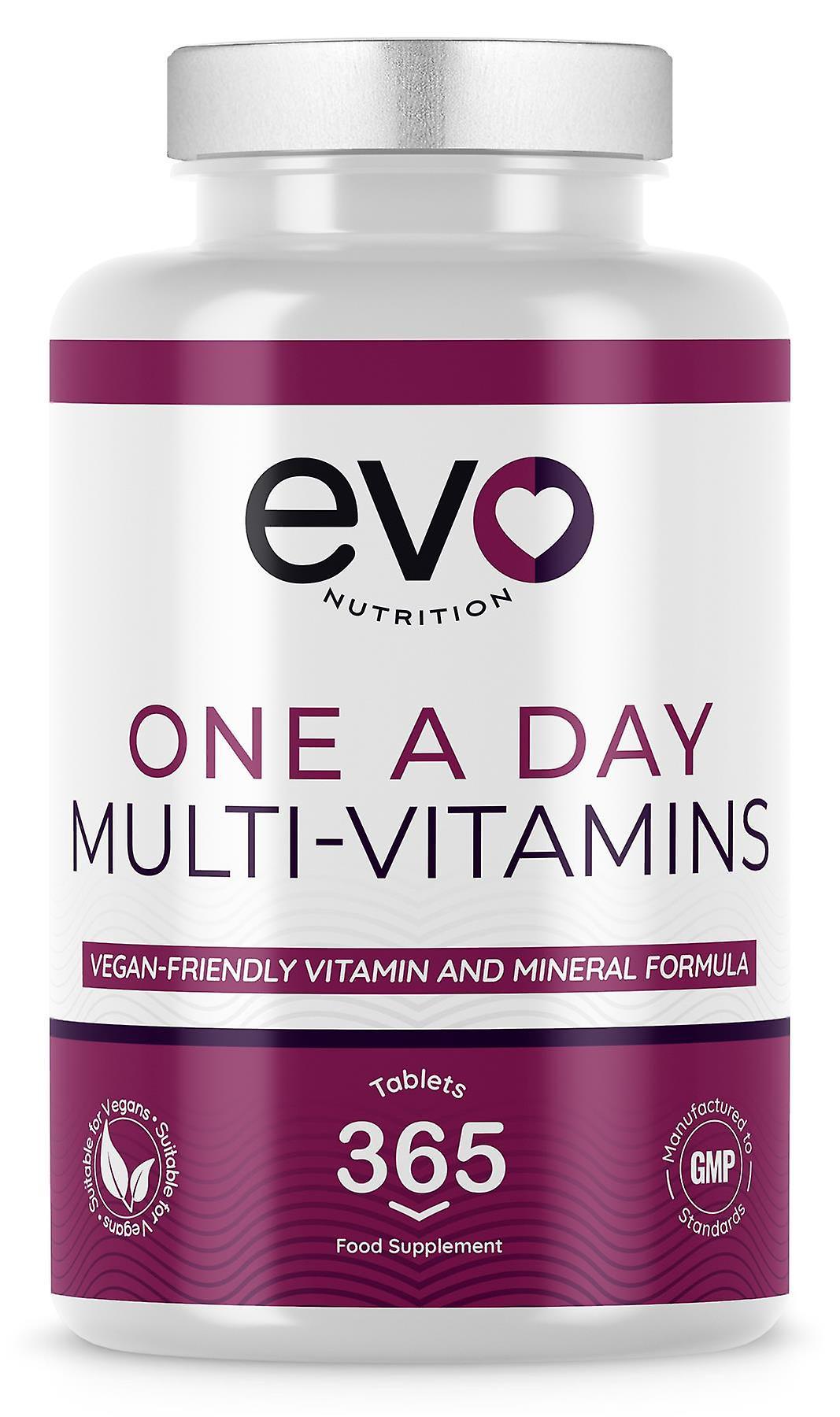 Multi Vitamins (365 Tablets) Multivitamin & Mineral Formula - Evo Nutrition