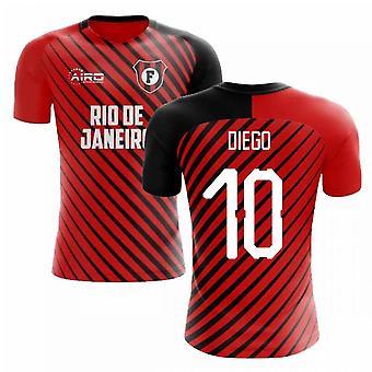 2020-2021 Flamengo Home Concept Futbalové tričko (Diego 10)