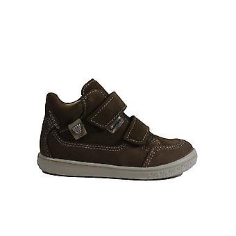 Ricosta Zach 2521600-266 Tan Nubuck Leather Boys Rip Tape Waterproof Ankle Boots