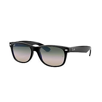 Ray-Ban New Wayfarer RB2132 901/3A zwart/Clear gradiënt groen zonnebril