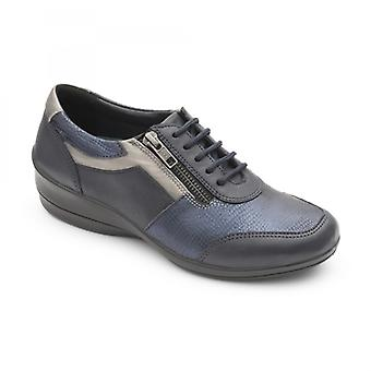 Padders Steffi 2 Ladies Leather Wide (e/2e) Shoes Navy