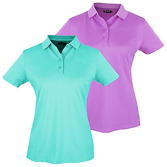 Island Green Womens Plain Golf Polo Shirt Womens Short Sleeve