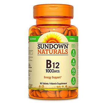 Sundown naturals b12, 1000 mcg, tablets, 60 ea