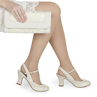 Ruby Shoo Women's Lucia Brocade Slingback Bar Shoe & Matching Charleston Bag