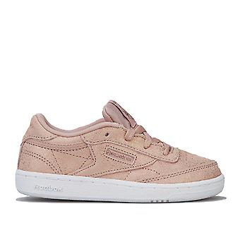 Infant Girls Reebok Classics Club C Trainers In Rose- Lace Fastening- Cushioned