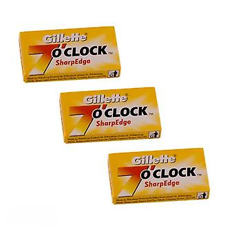 3x Gillette Seven O' Clock Sharp Edge Razor Blades - 5 csomag