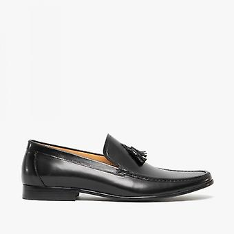 Blakeseys Falstaff Mens Leather Moccasin Tassel Loafers Black