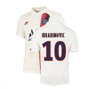 2019-2020 PSG Third Nike Shirt White (Kids) (IBRAHIMOVIC 10)