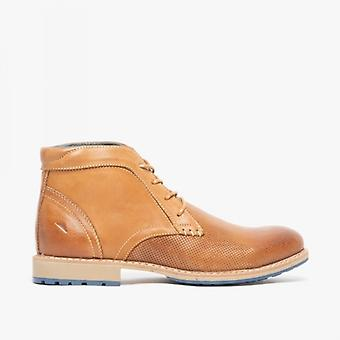 Front Hampstead Mens Leather Chukka Boots Tan