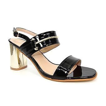 Lunar Tino Metallic Block Heel Sandal
