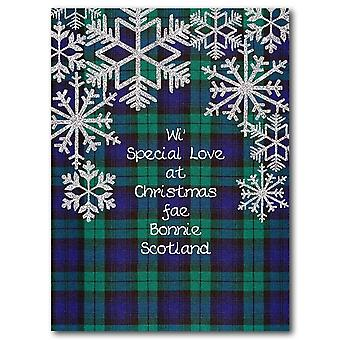 Embroidered Originals Special Love Tartan Christmas Card