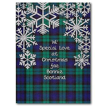 Brodert Originals spesiell kjærlighet tartan julekort