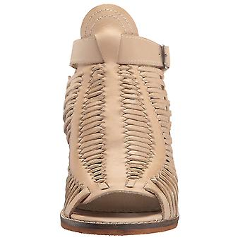 Naughty Monkey Womens Killion Leather Peep Toe Casual Mule Sandals