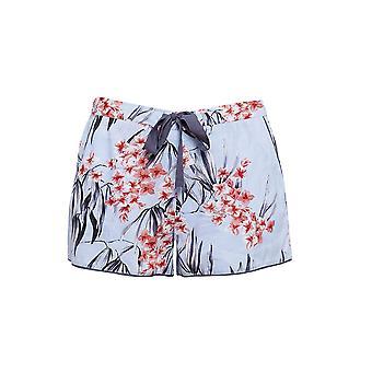 Cyberjammies 4391 Women's Olivia Blue Floral Print Cotton Pyjama Short