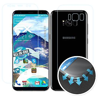 atFoliX 3x Écran protecteur compatible avec Samsung Galaxy S8 Protecteur d'écran clair&flexible