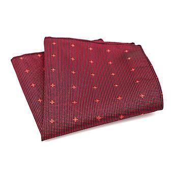 Red & light rouge ditsy dot spot pattern pocket square