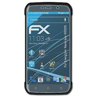 atFoliX 3x Protective Film compatible with Energizer Hardcase H550S Screen Protector clear&flexible