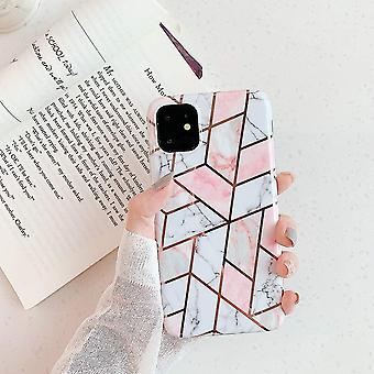 Mobile shell for iPhone XR different shades of pink marble patterns