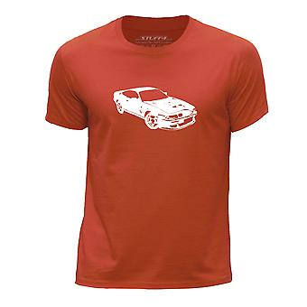 STUFF4 Boy's Round Neck T-Shirt/Stencil Car Art / V8 Vantage 600/Orange