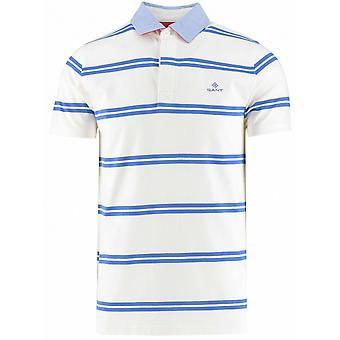 GANT GANT Eggshell gestreift Rugger Polo Shirt