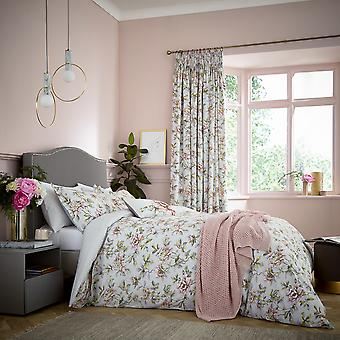 Peony Blossom Bedding And Pillowcase By V&A In Silver