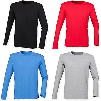 Skinnifit Mens Feel Good Long Sleeved Stretch T-Shirt