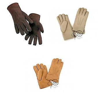 Eastern Counties Leather Womens/Ladies 3 Point Stitch Detail Sheepskin Gloves