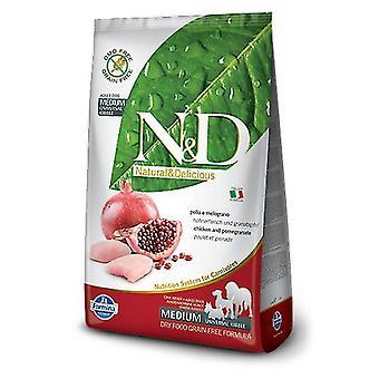 Farmina N&D Grain Free Adult Medium Chicken and Pomegranate (Dogs , Dog Food , Dry Food)