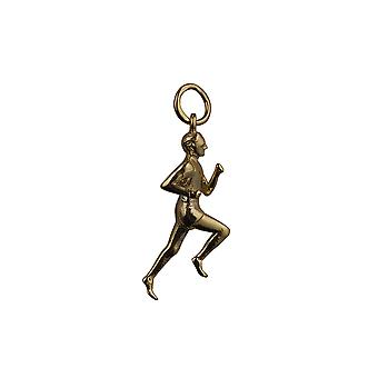 9ct Gold 25x9mm Male Runner Pendant or Charm