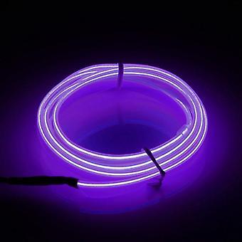 1m led flexible el cable de neón brillante tira de cuerda 12v para la fiesta de navidad