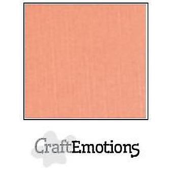 CraftEmotions linen cardboard 10 Sh salmon LHC-43 A4 250gr