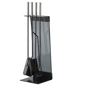 Conmoto teras set 5 stuks zwart staal