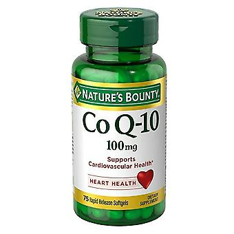 Nature's bounty coq-10, 100 mg, dietary supplement, softgels, 75 ea
