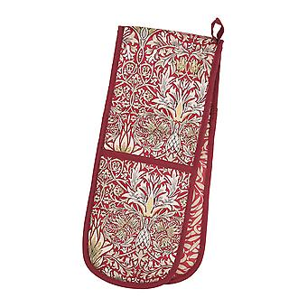 Morris & Co Snakeshead Double Oven Glove, Claret