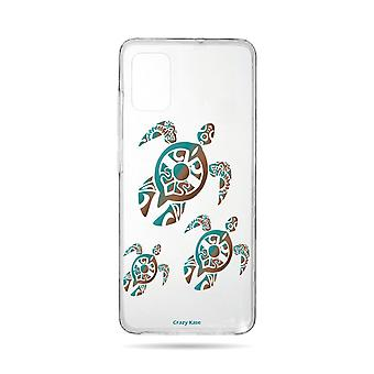 Hull For Samsung Galaxy A71 Flexible Family Turtle