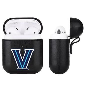 Villanova Wildcats NCAA Fan Brander Zwart lederen AirPod Case
