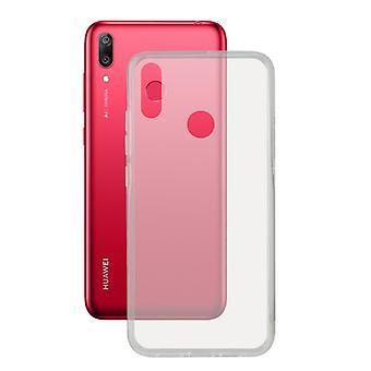Capa móvel Huawei Y7 2019 KSIX Flex Transparente