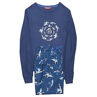 Minijammies 6315 Boy's Finn Blue Shark Print Cotton Pajama Pyjama Set