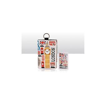 Union Jack Wear London Ikoner Bomuld lærred Folding Tegnebog